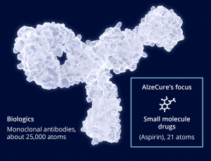 Illustrative comparison between biological and small molecule drugs.
